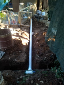 Connecting to septic system